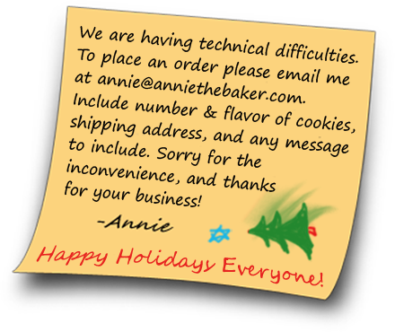 Hi everyone! The kitchen will be closed from May 3rd to 27th. I'll fill any orders that come in during that time the week of the 27th. Thanks! –Annie