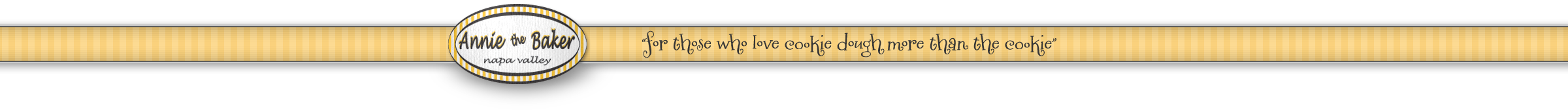 Annie the Baker, for those who love cookie dough more than the cookie